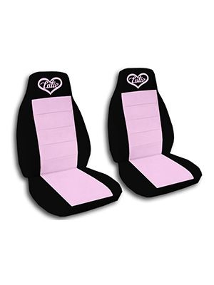 Cute Pink and Black Cutie Car Seat Covers