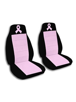 Cute Pink and Black Pink Ribbon Car Seat Covers