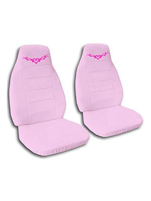 Cute Pink Heart Tattoo Car Seat Covers