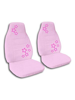 Cute Pink Stars Car Seat Covers