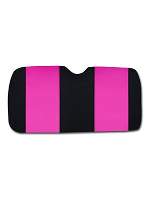 Hot Pink and Black Car Sun Shade