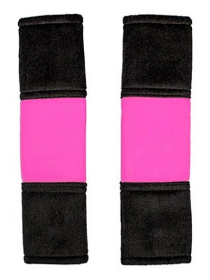 Hot Pink and Black Seat Belt Covers