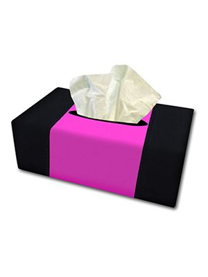 Hot Pink and Black Tissue Box Cover