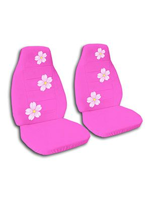 Hot Pink Cherry Blossoms Car Seat Covers