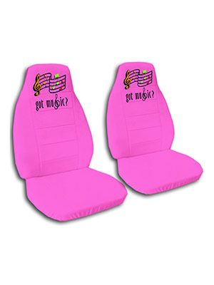Hot Pink Got Music Car Seat Covers