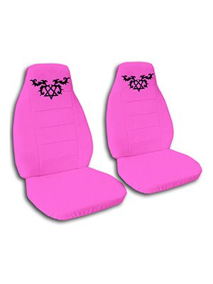 Hot Pink Heartagram Car Seat Covers