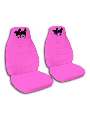 Hot Pink Horses Car Seat Covers