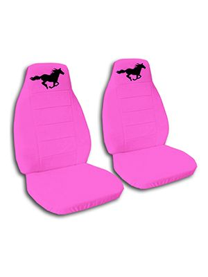 Hot Pink Running Horse Car Seat Covers