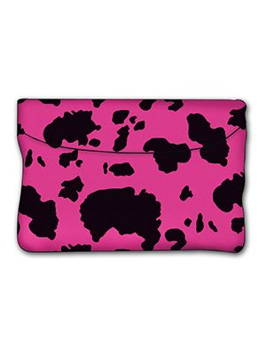 Pink and Black Cow Car Trash Bag