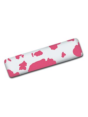 Pink and White Cow Hand Brake Cover