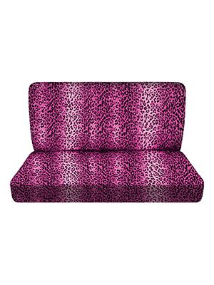 Pink Leopard Bench Seat Covers