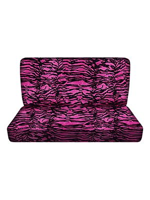 Pink Tiger Bench Seat Covers