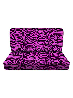 Pink Zebra Bench Seat Covers