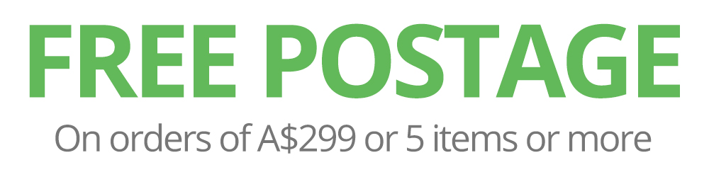 FREE Postage on Orders of $285 or 5 Items or more.