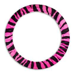 Pink Zebra Steering Wheel Cover