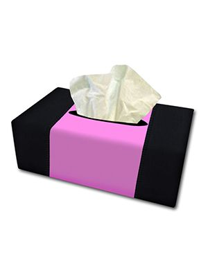 Cute Pink and Black Tissue Box Cover
