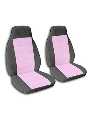 Cute Pink and Charcoal Car Seat Covers