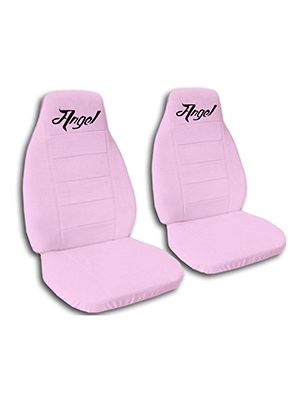Cute Pink Angel Car Seat Covers