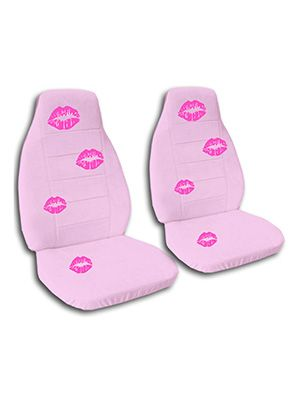 Cute Pink Kisses Car Seat Covers