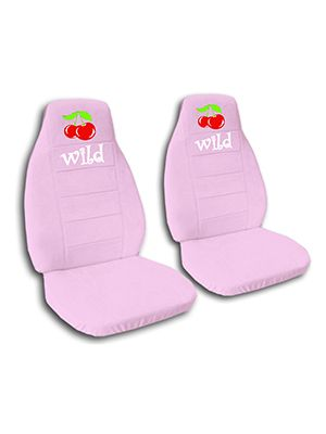 Cute Pink Wild Cherry Car Seat Covers