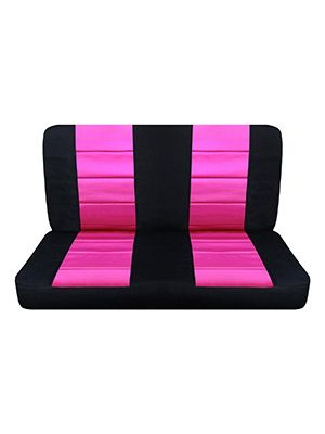 Hot Pink and Black Bench Seat Covers