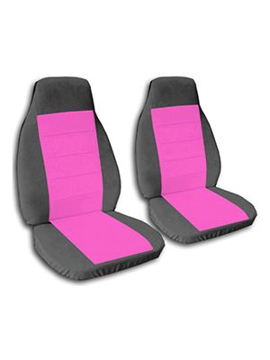 Hot Pink and Charcoal Car Seat Covers