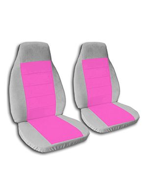 Hot Pink and Silver Car Seat Covers