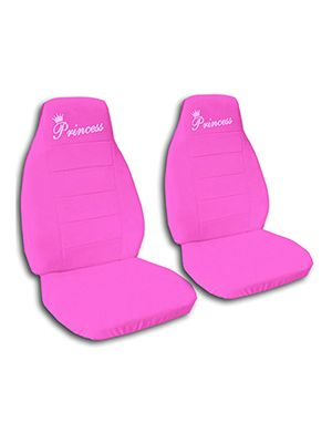 Hot Pink Princess Car Seat Covers