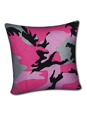 Pink Camouflage Pillow Cover