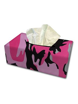 Pink Camouflage Tissue Box Cover