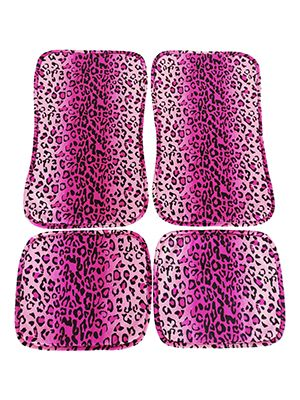 Pink Leopard Car Floor Mats