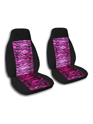 Pink Tiger and Black Car Seat Covers