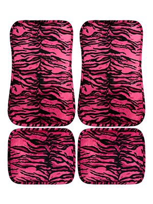 Pink Tiger Car Floor Mats