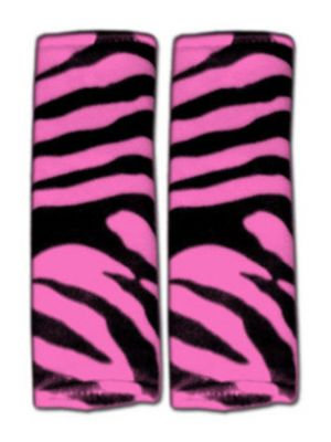 Pink Zebra Seat Belt Covers