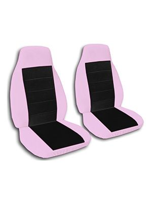 Black and Cute Pink Car Seat Covers