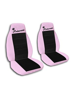 Black and Cute Pink Princess Car Seat Covers