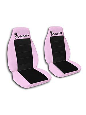 Black and Cute Pink Princess Car Seat Covers