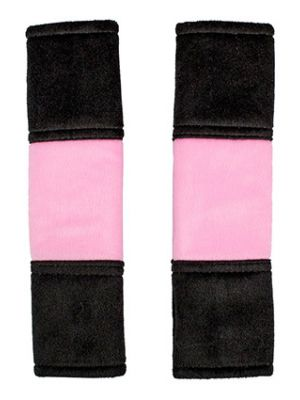 Cute Pink and Black Seat Belt Covers