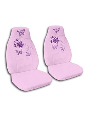 Cute Pink Butterflies Car Seat Covers