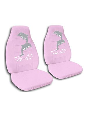 Cute Pink Dolphins Car Seat Covers
