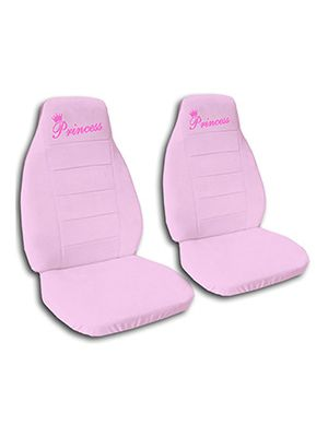 Cute Pink Princess Car Seat Covers