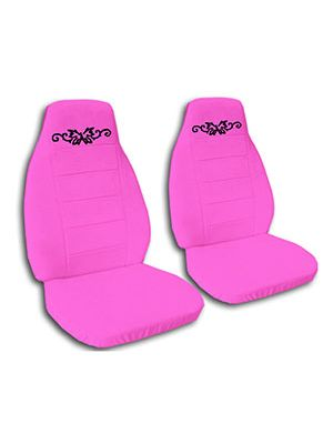 Hot Pink Butterfly Tattoo Car Seat Covers