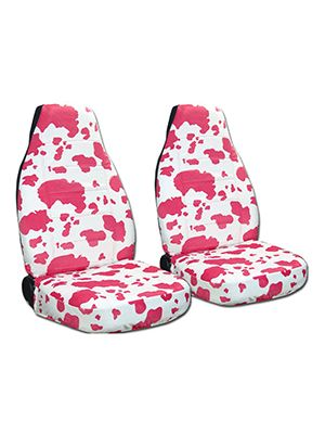 Pink and White Cow Car Seat Covers