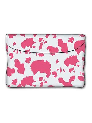 Pink and White Cow Car Trash Bag