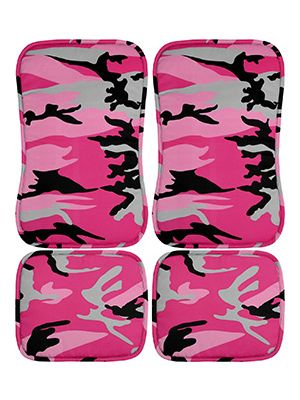 Pink Camouflage Car Floor Mats