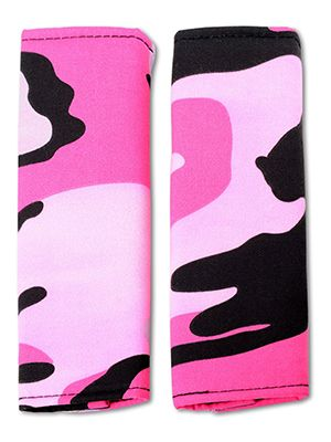 Pink Camouflage Seat Belt Covers