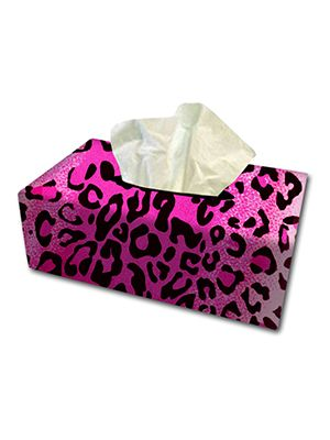 Pink Leopard Tissue Box Cover