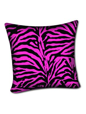 Pink Zebra Pillow Cover