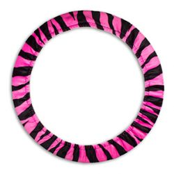 Pink Zebra Steering Wheel Cover