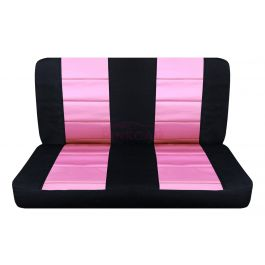 cute pink and black bench seat covers rear car seat cover. Black Bedroom Furniture Sets. Home Design Ideas